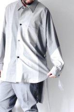 画像4: ETHOSENS / バイカラーオーバーサイズシャツ (4)