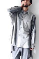 画像2: ETHOSENS / バイカラーオーバーサイズシャツ (2)