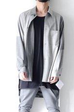 画像11: ETHOSENS / バイカラーオーバーサイズシャツ (11)