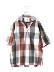 画像11: STUDIO NICHOLSON / SHORT SLV MADRAS CHECK SHIRT (11)