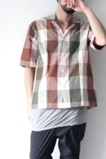 画像2: STUDIO NICHOLSON / SHORT SLV MADRAS CHECK SHIRT (2)