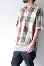 画像3: STUDIO NICHOLSON / SHORT SLV MADRAS CHECK SHIRT (3)