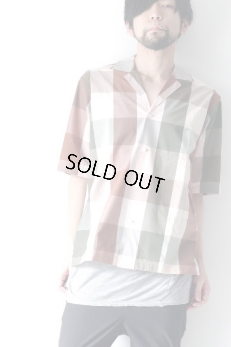 画像1: STUDIO NICHOLSON / SHORT SLV MADRAS CHECK SHIRT (1)