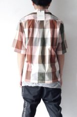 画像5: STUDIO NICHOLSON / SHORT SLV MADRAS CHECK SHIRT (5)