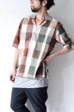 画像10: STUDIO NICHOLSON / SHORT SLV MADRAS CHECK SHIRT (10)