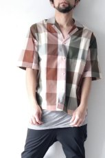 画像9: STUDIO NICHOLSON / SHORT SLV MADRAS CHECK SHIRT (9)
