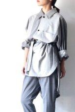 画像12: ETHOSENS / バイカラーオーバーサイズシャツ (12)