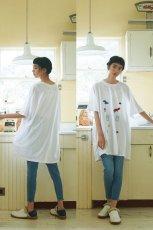 画像13: STOF / 静物刺繍BIGTシャツ (13)