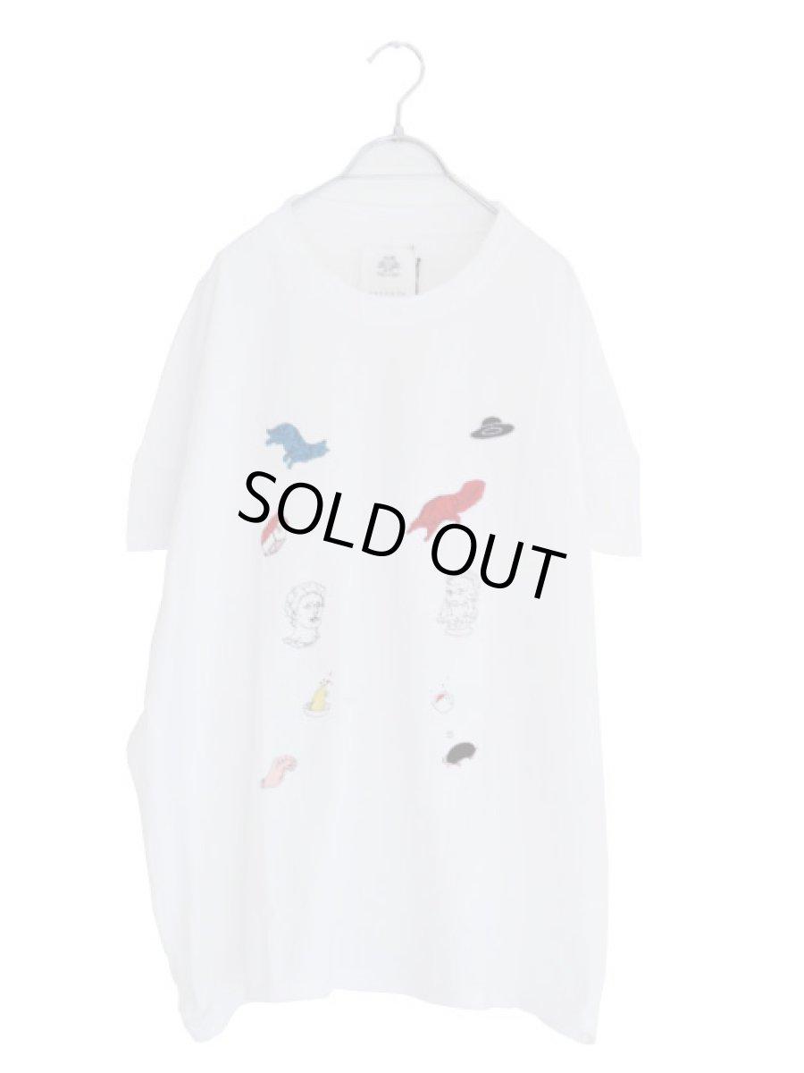 画像1: STOF / 静物刺繍BIGTシャツ (1)
