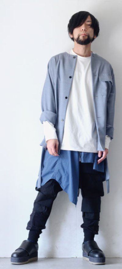 画像1: STUDIO NICHOLSON / LOOSE LONG SLEEVE TEE