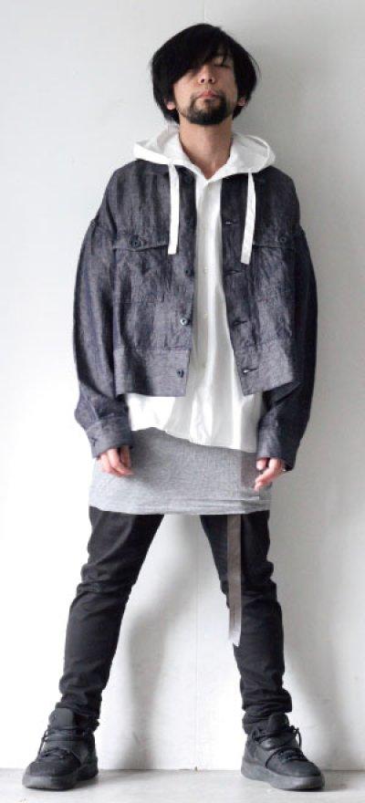 画像1: UNDECORATEDMAN / フードシャツ