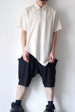 画像2: ETHOSENS / アシンメトリーシャツ (2)