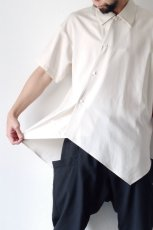 画像8: ETHOSENS / アシンメトリーシャツ (8)