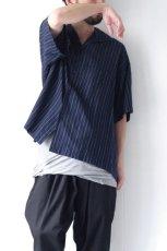 画像8: UNDECORATEDMAN / ストライプ半袖シャツ (8)