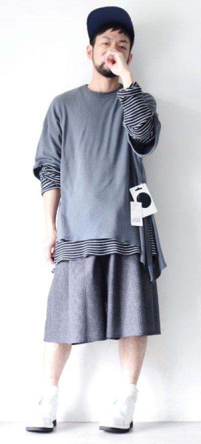 画像1: UNDECORATEDMAN / シルクネップリボンTシャツ