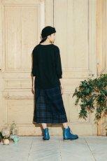 画像2: STOF / ウールチェックMIXスカート (2)