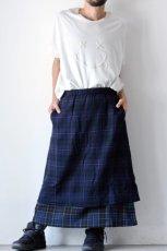 画像11: STOF / ウールチェックMIXスカート (11)