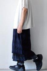 画像14: STOF / ウールチェックMIXスカート (14)