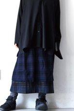 画像5: STOF / ウールチェックMIXスカート (5)