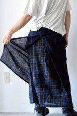 画像13: STOF / ウールチェックMIXスカート (13)