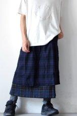 画像15: STOF / ウールチェックMIXスカート (15)