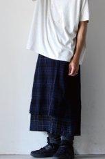 画像16: STOF / ウールチェックMIXスカート (16)
