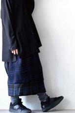 画像8: STOF / ウールチェックMIXスカート (8)