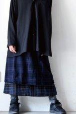画像10: STOF / ウールチェックMIXスカート (10)