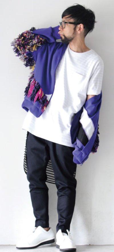 画像1: yoshio kubo / フリンジ付ジャージートップ