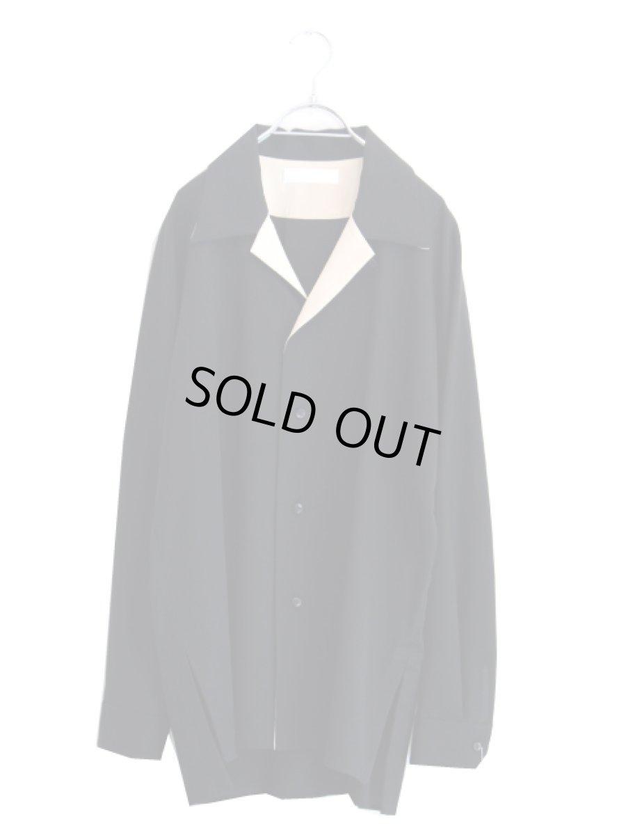 画像1: ETHOSENS / オープンカラーシャツ (1)
