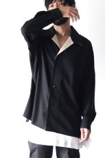 画像4: ETHOSENS / オープンカラーシャツ (4)