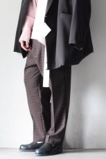 画像5: STUDIO NICHOLSON / ITALIAN WOOL CHECK MENS DOUBLE PLEAT TAPERED PANT (5)