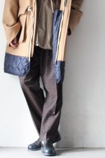 画像9: STUDIO NICHOLSON / ITALIAN WOOL CHECK MENS DOUBLE PLEAT TAPERED PANT (9)