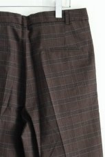 画像13: STUDIO NICHOLSON / ITALIAN WOOL CHECK MENS DOUBLE PLEAT TAPERED PANT (13)