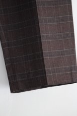 画像14: STUDIO NICHOLSON / ITALIAN WOOL CHECK MENS DOUBLE PLEAT TAPERED PANT (14)