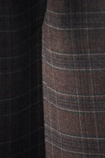 画像15: STUDIO NICHOLSON / ITALIAN WOOL CHECK MENS DOUBLE PLEAT TAPERED PANT (15)