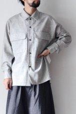 画像4: ETHOSENS /ウールネップシャツ (4)