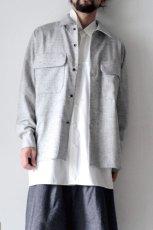 画像2: ETHOSENS /ウールネップシャツ (2)