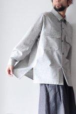 画像8: ETHOSENS /ウールネップシャツ (8)
