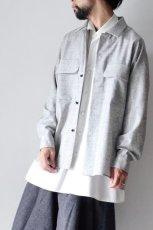 画像9: ETHOSENS /ウールネップシャツ (9)