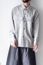 画像3: ETHOSENS /ウールネップシャツ (3)