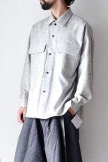 画像11: ETHOSENS /ウールネップシャツ (11)