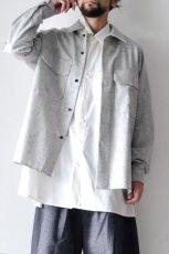 画像10: ETHOSENS /ウールネップシャツ (10)