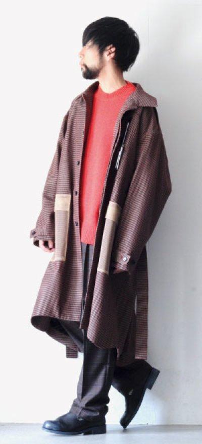 画像1: yoshio kubo / チェックステンカラーコート