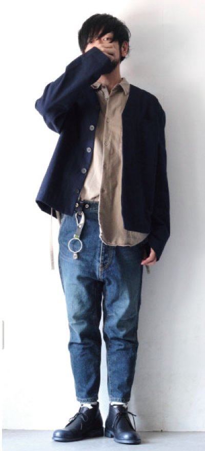 画像1: STUDIO NICHOLSON / HERRINGBONE MENS MODERN FIELD JACKET