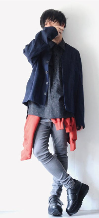画像1: UNDECORATEDMAN / フーデッドシャツ