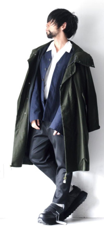 画像3: STUDIO NICHOLSON / HERRINGBONE MENS MODERN FIELD JACKET