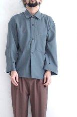 画像2: ETHOSENS / ワイドスリーブシャツ (2)