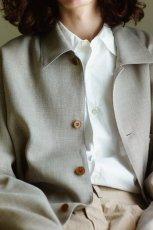 画像2: UNDECORATED / コットンローンシャツ (2)