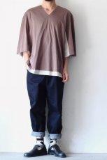画像3: ETHOSENS / レイヤーVネックTシャツ (3)